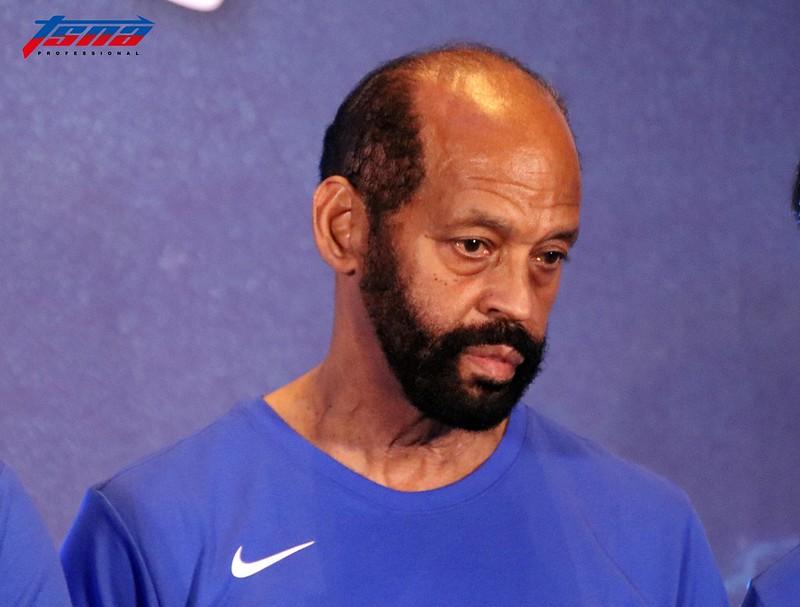 中華男籃教練團之一Charlie Parker。(林志儒/攝)