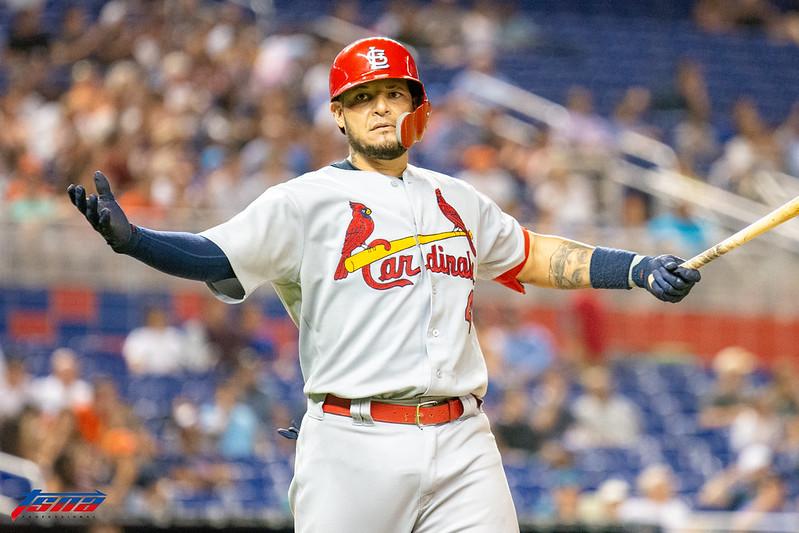 Yadier Molina打擊好表現率MLB明星隊止敗。(達志影像資料照)