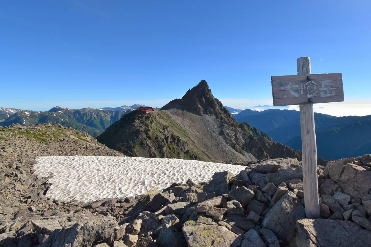 北アルプス・大喰岳山頂