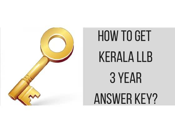 Kerala LLB 3 Year 2019 Answer Key