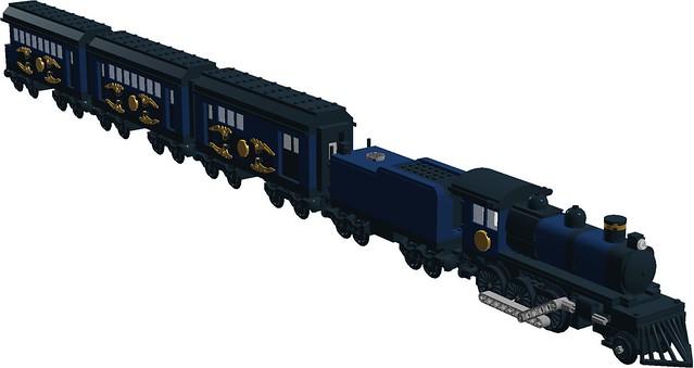Bureau of unexplained phenomenon s steam loco with three
