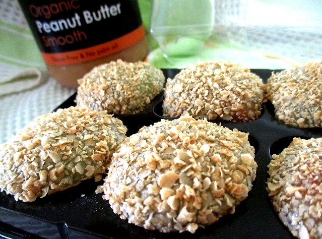 Nestum-coated peanut butter mochi