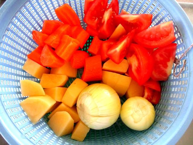 ABC soup, ingredients