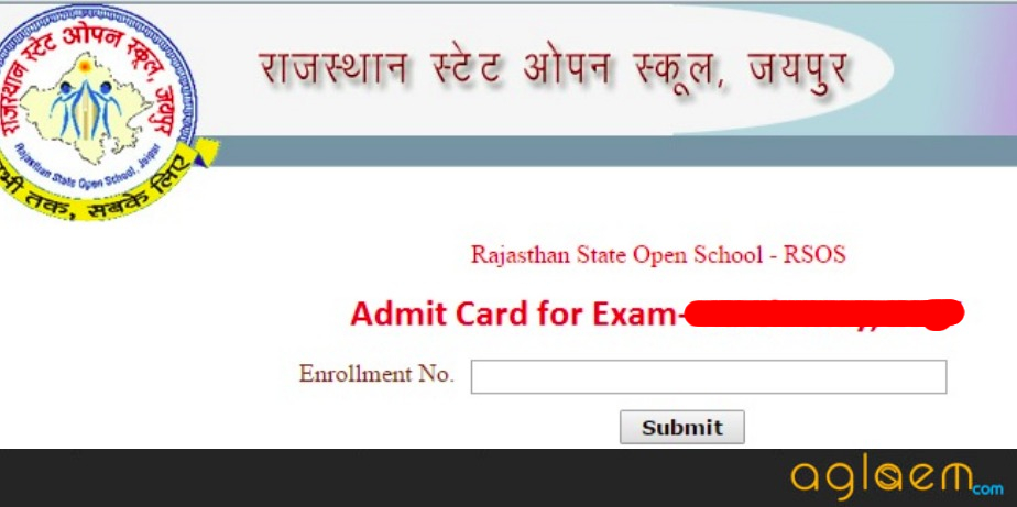 RSOS 10th Admit Card 2018