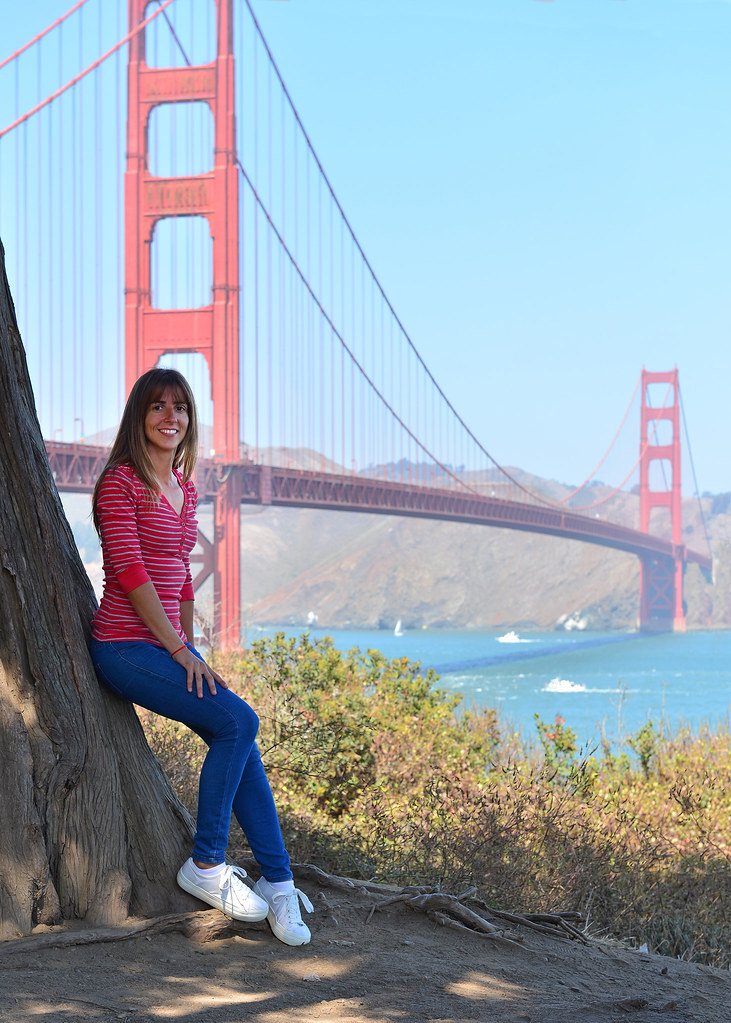 Vistas del puente del Golden Gate desde el Parque Presidio