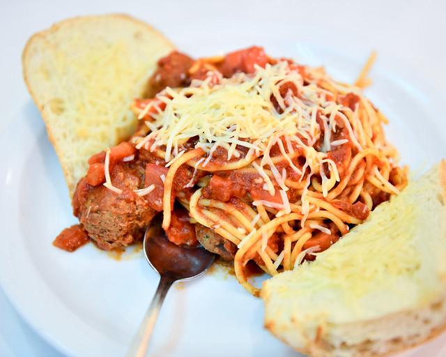 Espagueti con albondigas plato típico de Estados Unidos