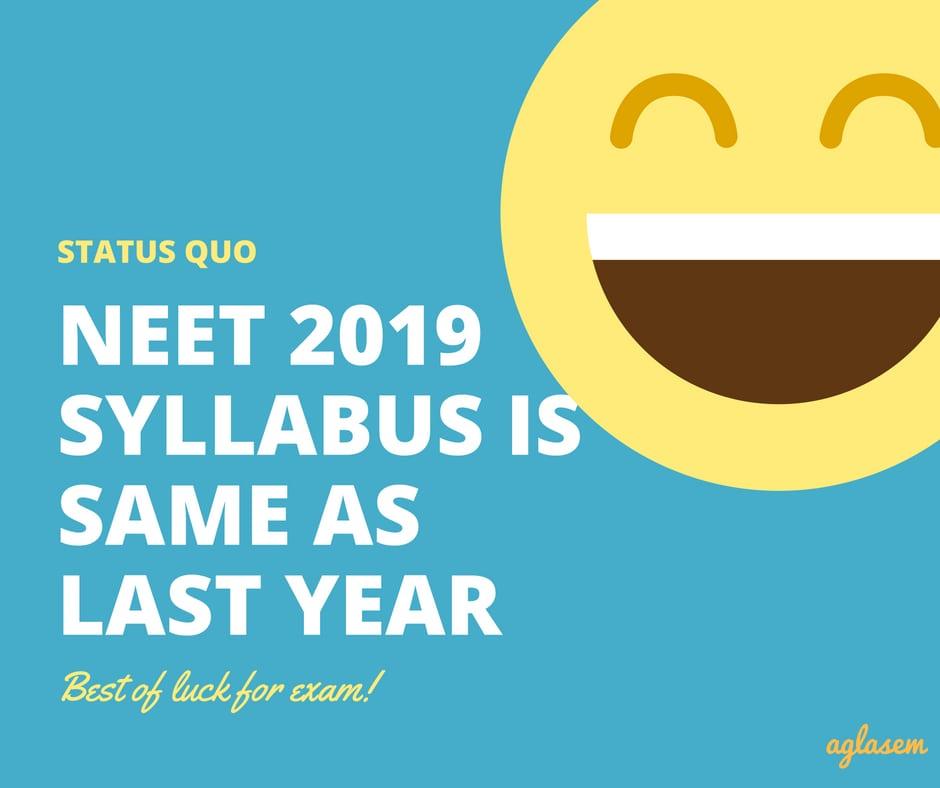NEET 2019 Syllabus PDF Download for Physics, Chemistry, Biology