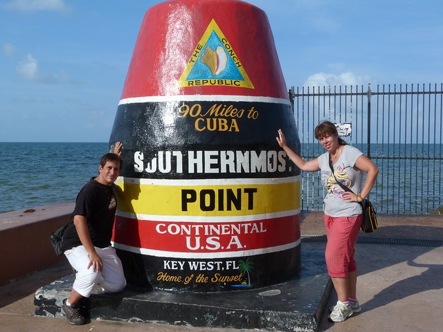Sele y Rebeca en Key West (Florida)
