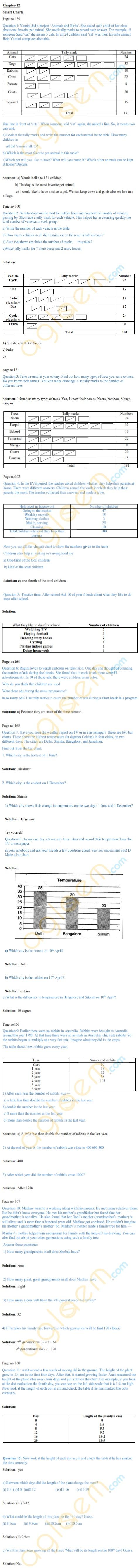 NCERT Solutions Class 5 Mathematics Chapter 12 Smart Charts