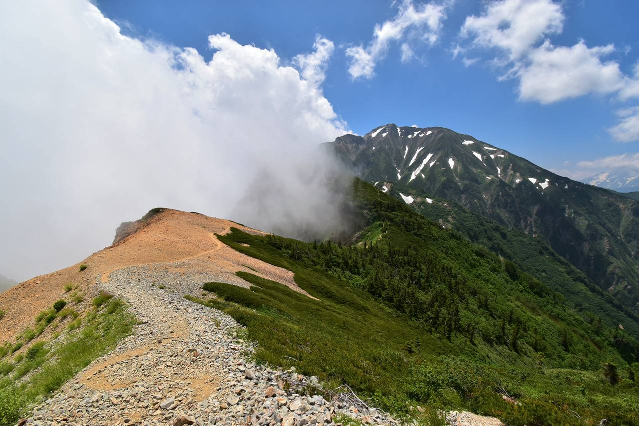 唐松岳~五竜岳の稜線