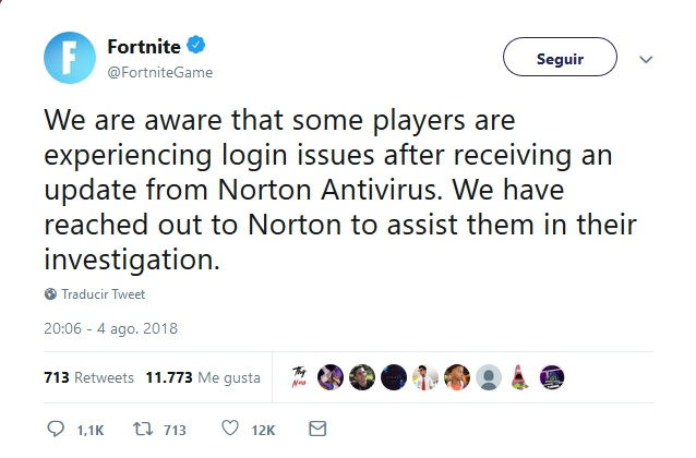 Fortnite-tweet