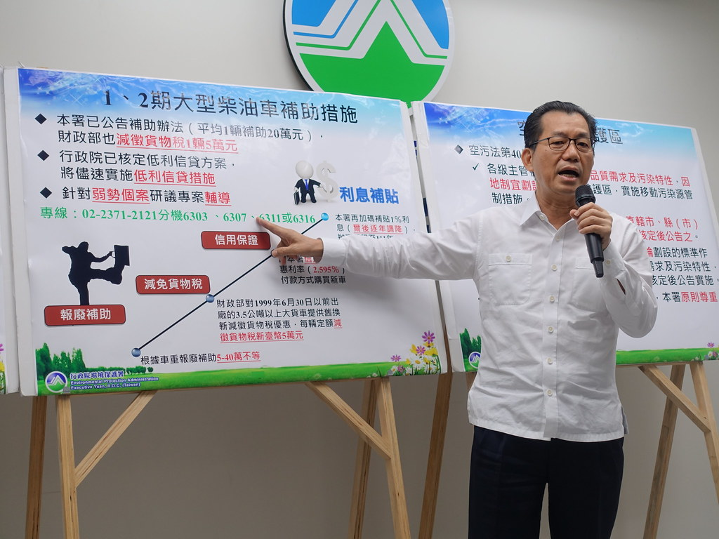 環保署長李應元任內拋出多項空污治理政策
