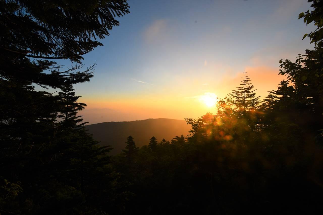 蓼科山荘からの朝日