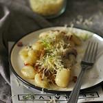 gnocchi gombával és édesköménnyel