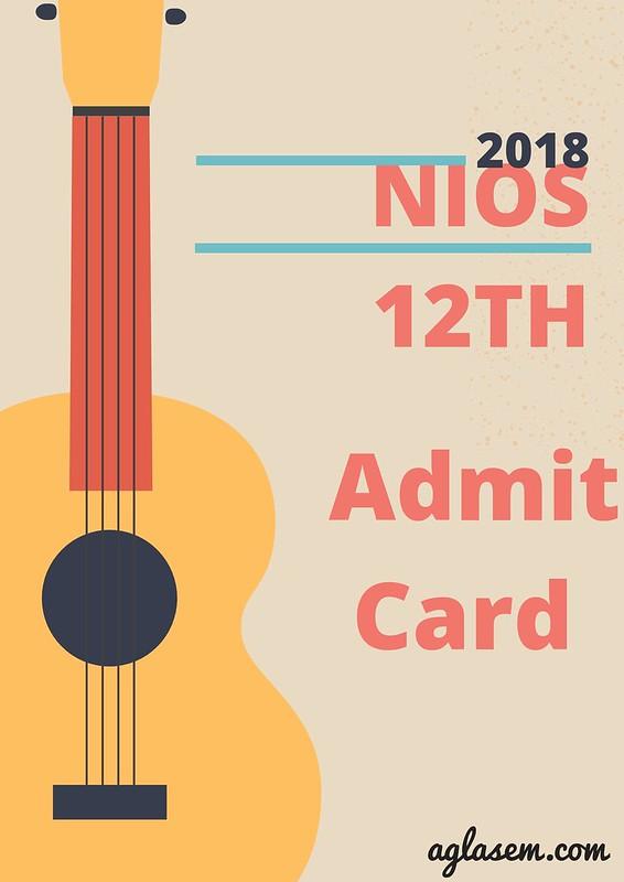 NIOS 12th Hall Ticket October 2018