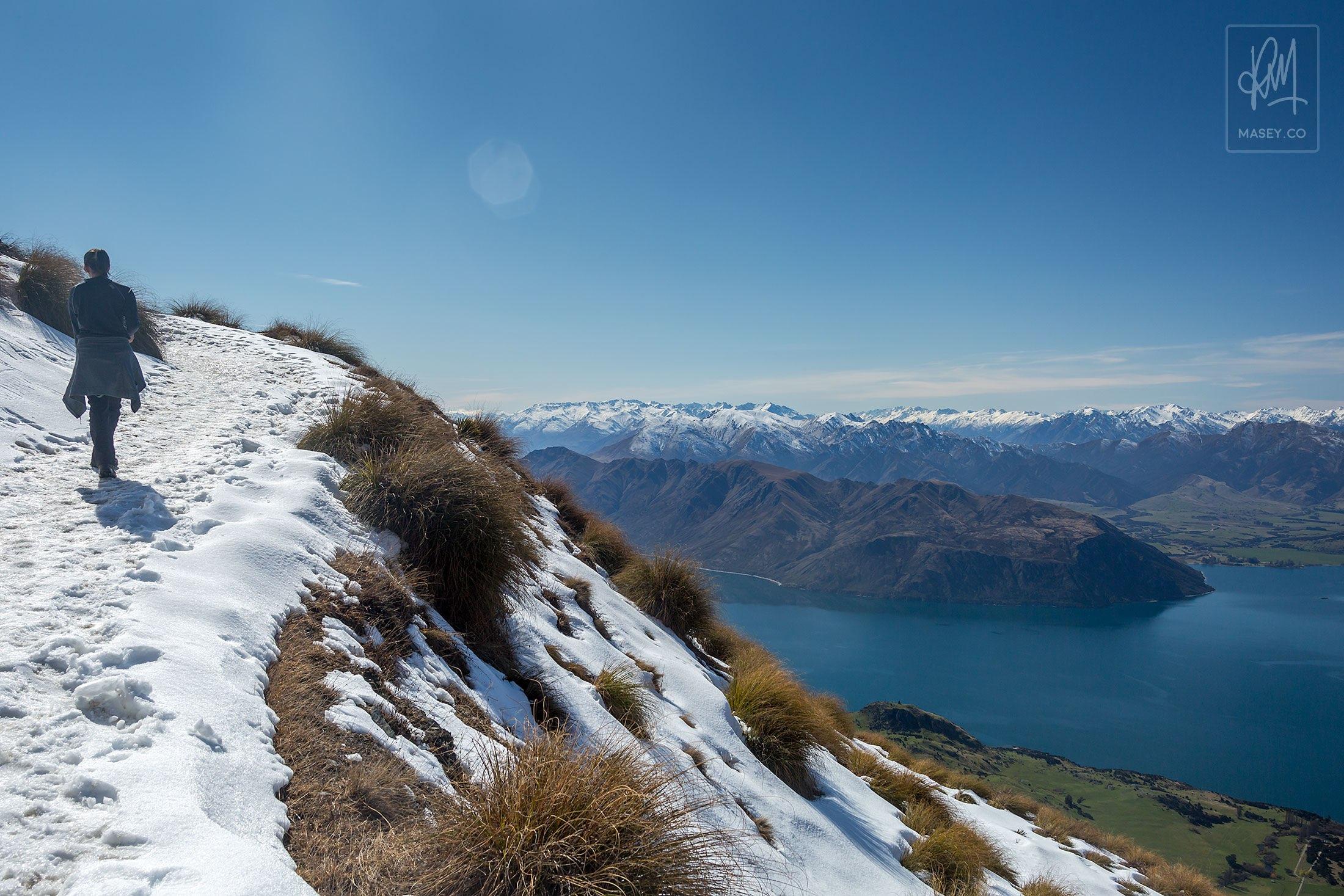 Hiking Roys Peak - Wanaka, New Zealand