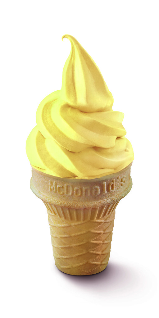 Sweet corn, or jagung soft serve ice cream, makes its comeback at $1 each. (Credit: McDonald's Singapore)