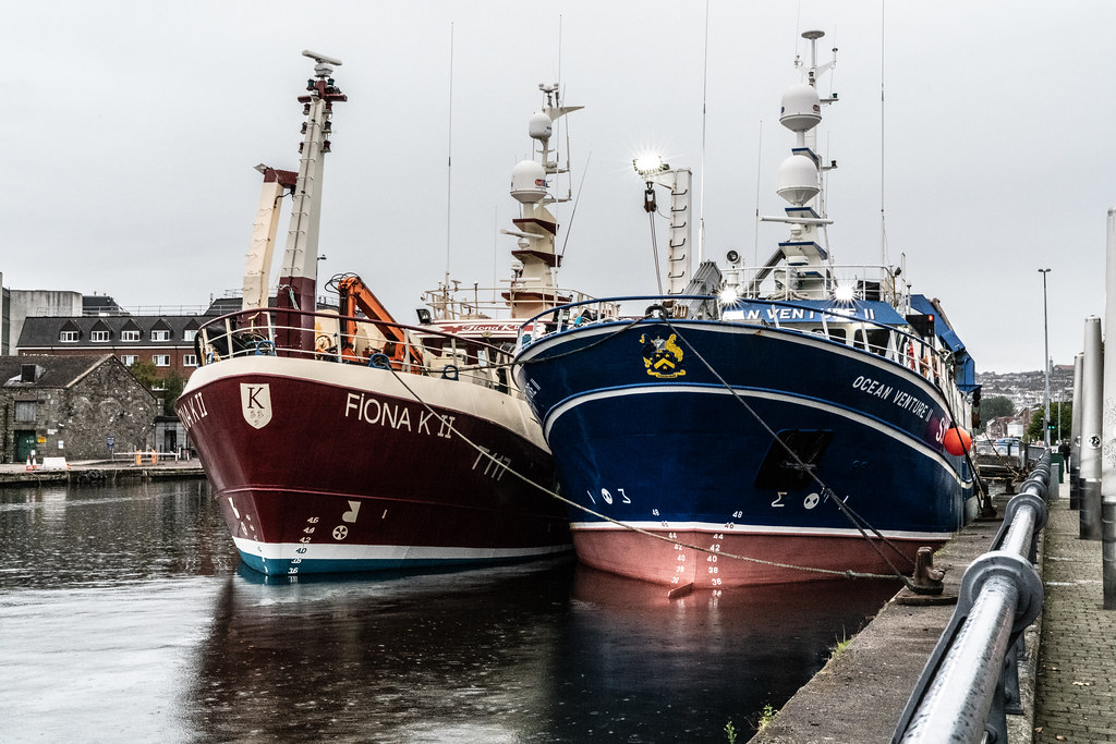 TWO TRAWLERS DOCKED AT PENROSE QUAY IN CORK 005