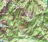 Carte du Haut-Cavu avec les secteurs Lora - Carciara - Paliri avec les annotations sur le Chemin de Paliri