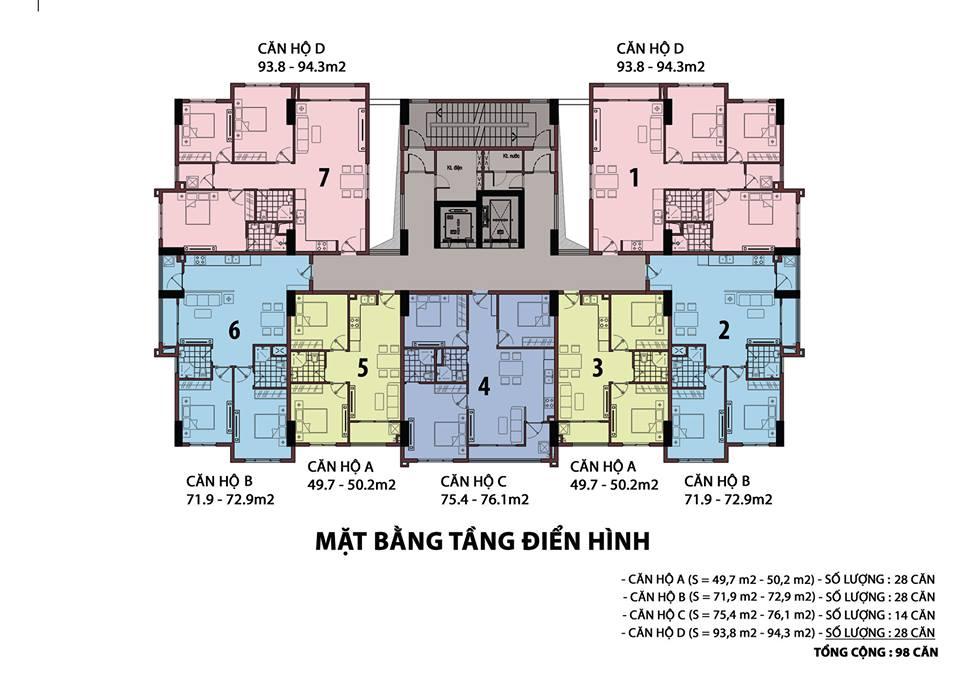 Thiết kế và mặt bằng căn hộ Raemian Đông Thuận Quận 12 4