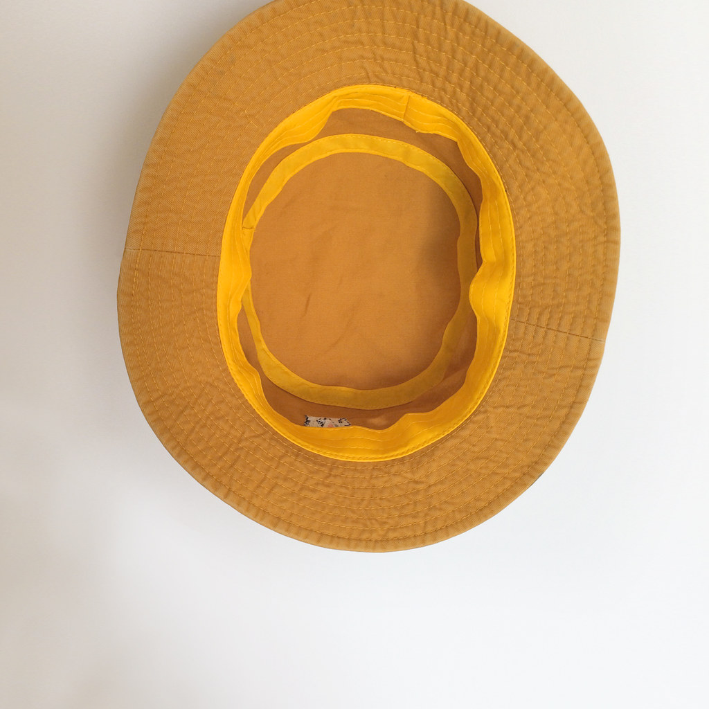 b93fc893233 Tapir embroidery Bucket Hat   Yellow Mustard - Designer ...
