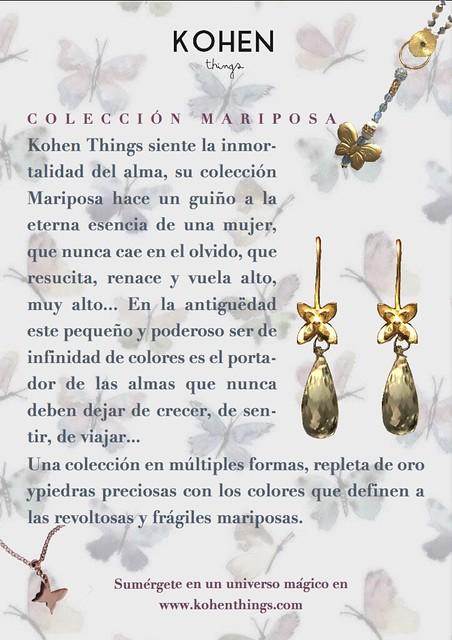 Kohen COlección Mariposa