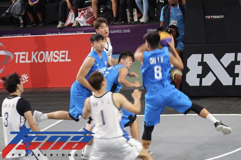 男籃3對3與韓國之戰。(記者李心筠/攝)