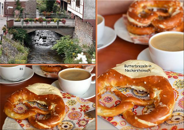 Butterbrezeln essen in Neckarsteinach ... Fotos: Brigitte Stolle