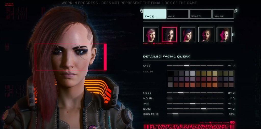 Cyberpunk 2077 - Character Creation   www.oneangrygamer ...