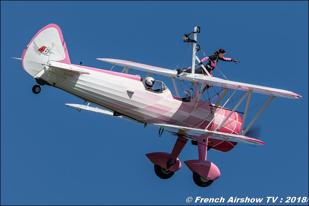 46 Aviation Wingwalker Danielle Stearman N450D Dittinger Flugtage 2018 Canon Sigma France contemporary lens Meeting Aerien 2018