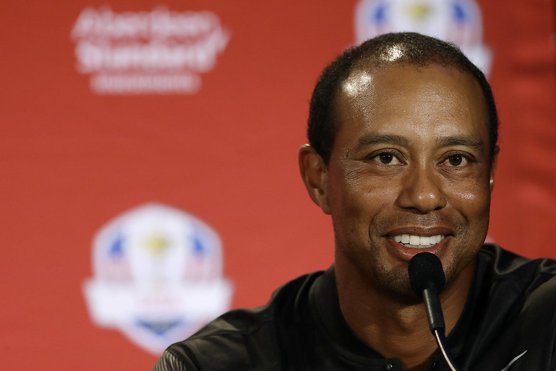 Tiger Woods以球員身分被選進美國萊德盃。(達志影像)