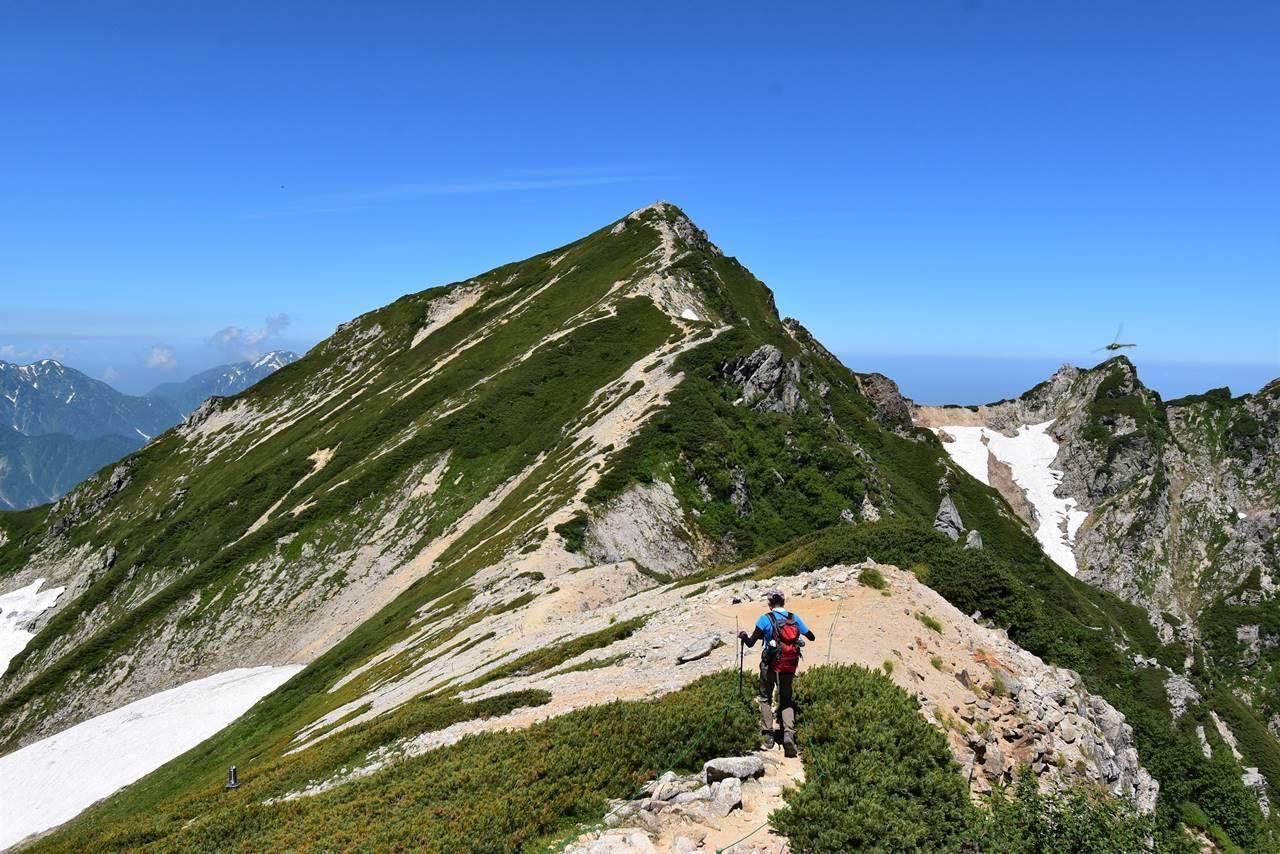 唐松岳登山 山頂へ