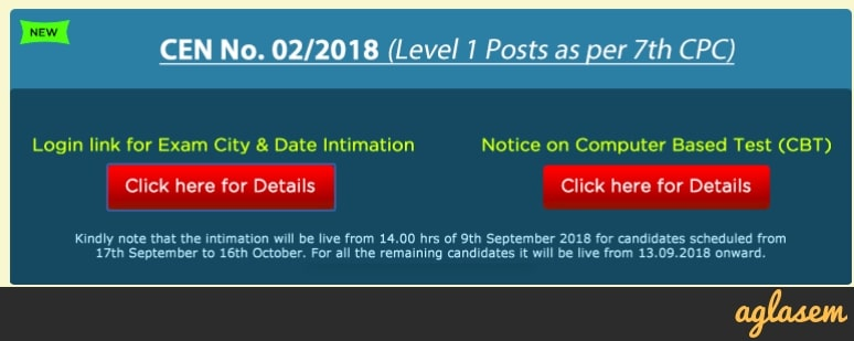RRB Ranchi Group D Exam Date 2018