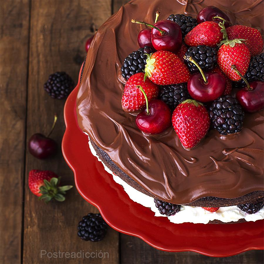 Tarta De Chocolate Y Frutas Del Bosque Postreadicción