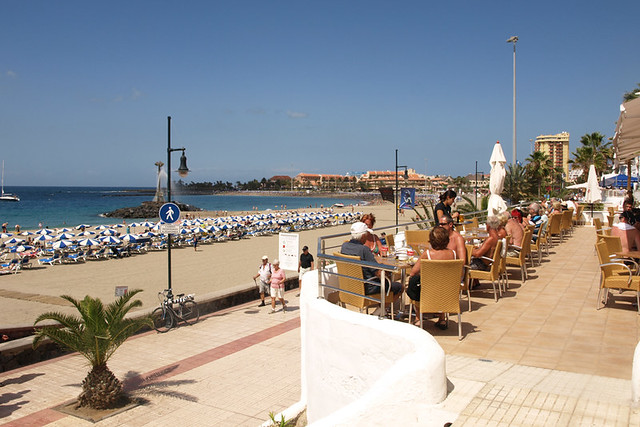 Seafront prom, Los Cristianos, Tenerife