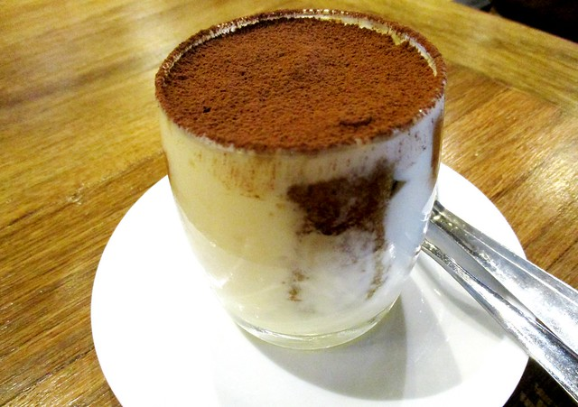Caffeine Cafe tiramisu in a glass
