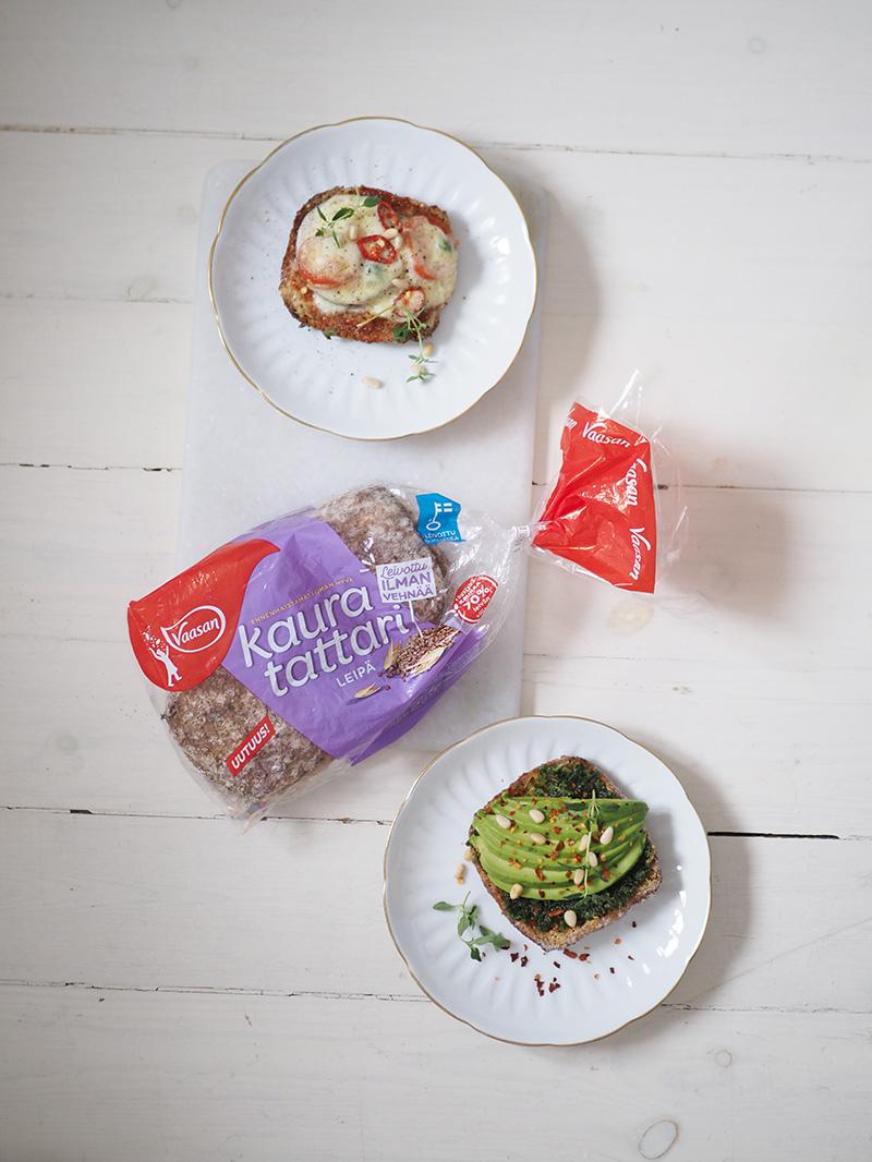 Vaasan ilman vehnää leivottu kaura-tattarileipä