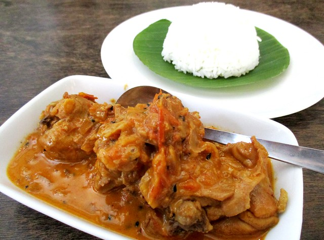 Payung Cafe butter chicken with rice