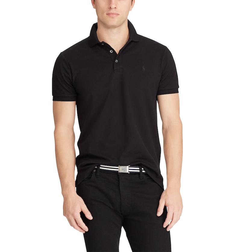 Custom Slim Stretch Mesh Polo Shirt