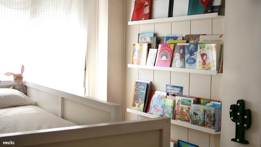 Habitación infantil compartida entre hermanos, con filosofía Montessori