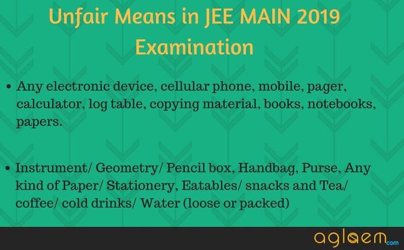 JEE Main 2019 examination