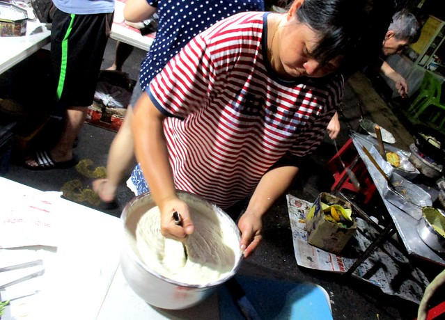 Preparing the batter