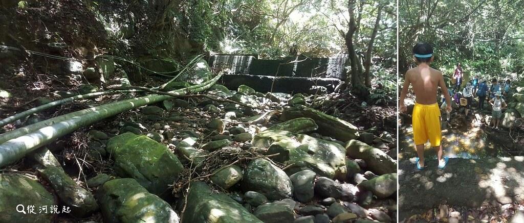 4_結合天然砂岩的取水堰與取水管線