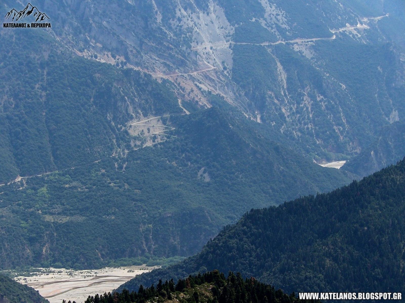 τρικεριωτης ποταμος αγαλιανος δρομος απο αμπελια προς χελιδονα ευρυτανιας