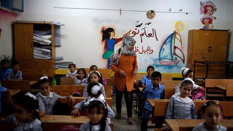 根據聯合國駐東巴勒斯坦難民救濟處,約有52萬6千名孩童於該處的計畫中就學。(圖片來源:Mohammed Salem/Reuters)