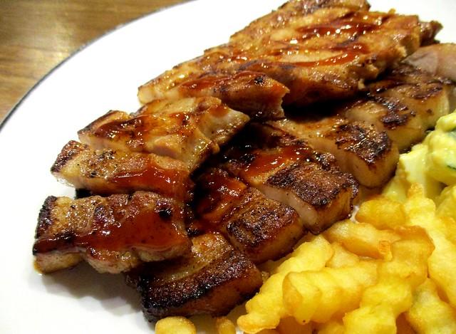 Caffeine Cafe BBQ pork chop 2