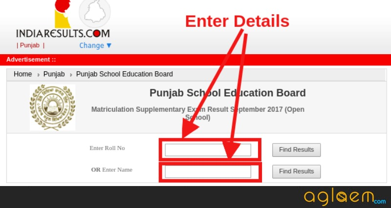 Punjab Open School 10th Result September 2018