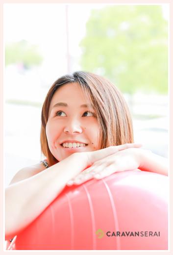 バランスボール・体力メンテナンス協会 岐阜支部インストラクター プロフィール撮影会