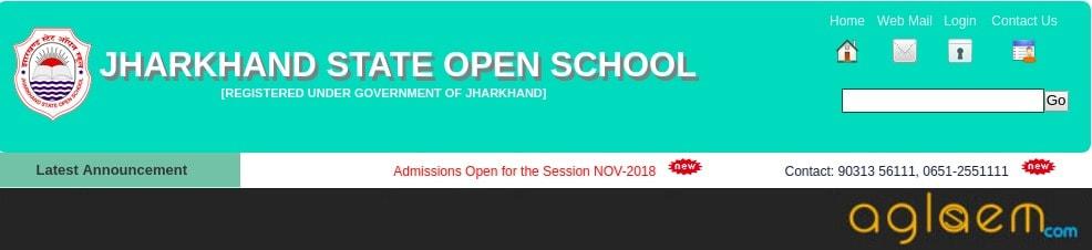 JSOS 12th Admit Card November 2018