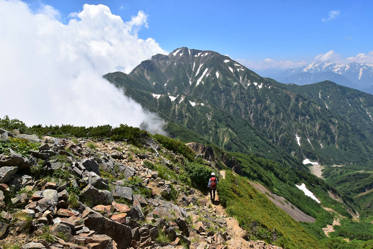 北アルプス・唐松岳~五竜岳登山